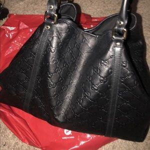 GUCCI GUCCISSIMA BLACK TOTE BAG 100% AUTHENTIC